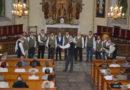 Wizyta chóru męskiego z Łotwy w Wydminach.