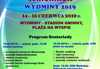 Zapraszamy na Senioriadę Wydminy 2019