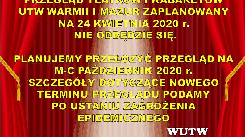 Komunikat dla UTW Warmii i Mazur.
