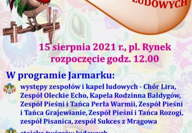 Zapraszamy na jubileuszowy XXX Wydmiński Jarmark Twórców Ludowych.